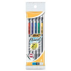 Grip Mechanical Pencil - #2 Lead Degree (Hardness) - 0.5 mm Lead Diameter - Black Lead - 5 / Pack