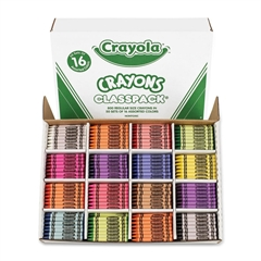 Crayola 800 Count Classpack Crayons - Black, Blue, Brown, Green, Orange, Red-violet, Yellow, Green Blue, Blue-violet, Carnation Pink, Red Orange, ... - 800 / Box