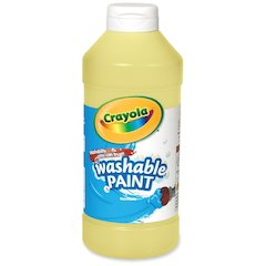 Crayola Washable Paint - 16 oz - 1 Each - Yellow