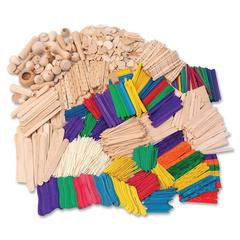 ChenilleKraft Wood Crafts Activities - Building Shapes - 2100 Piece(s) - 1 / Kit - Natural - Wood