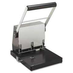 "CARL Heavy-Duty 3 Hole Punch - 3 Punch Head(s) - 300 Sheet Capacity - 9/32"" Punch Size - Platinum"