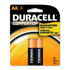 Duracell Multipurpose Battery - AA - Alkaline - 1.5 V DC - 2 / Pack