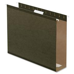 "Pendaflex Box Bottom Hanging Folder - 3"" Folder Capacity - Letter - 8 1/2"" x 11"" Sheet Size - Folder - Pressboard - Standard Green - 25 / Box"