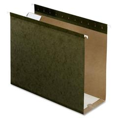 "Pendaflex Box Bottom Hanging Folder - 4"" Folder Capacity - Letter - 8 1/2"" x 11"" Sheet Size - Folder - Pressboard - Standard Green - 25 / Box"
