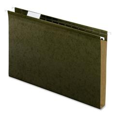 "Pendaflex Ex-capacity Reinforced Hanging Folders - 1"" Folder Capacity - Legal - 8 1/2"" x 14"" Sheet Size - 1"" Expansion - Pressboard - Standard Green - 25 / Box"
