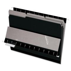 "Pendaflex Interior File Folder - Letter - 8 1/2"" x 11"" Sheet Size - 1/3 Tab Cut - Assorted Position Tab Location - Black - 100 / Box"
