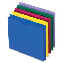 "Pendaflex Translucent Poly File Jackets - 1"" Expansion - Poly - Assorted - 10 / Pack"