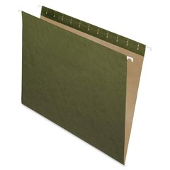 "Essentials Standard Green Hanging Folders - Letter - 8 1/2"" x 11"" Sheet Size - Standard Green - 25 / Box"