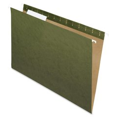 """Pendaflex Essentials Std Green Hanging Folders - Legal - 8 1/2"""" x 14"""" Sheet Size - 1/3 Tab Cut - Standard Green - 25 / Box"""