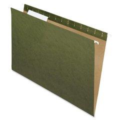"Pendaflex Essentials Std Green Hanging Folders - Legal - 8 1/2"" x 14"" Sheet Size - 1/3 Tab Cut - Standard Green - Recycled - 25 / Box"
