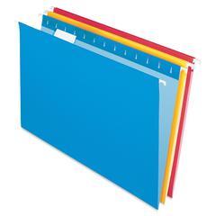 "Pendaflex Essentials Color Hanging Folders - Legal - 8 1/2"" x 14"" Sheet Size - 1/5 Tab Cut - Assorted - 25 / Box"