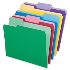 "Pendaflex Erasable Tab File Folders - Letter - 8 1/2"" x 11"" Sheet Size - 1/3 Tab Cut - Assorted Position Tab Location - 11 pt. Folder Thickness - Assorted - 30 / Pack"