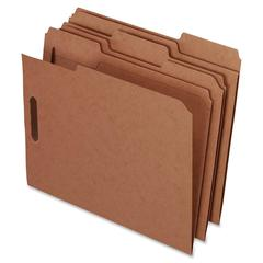 "Pendaflex Kraft Rec Classification Folders With Fasteners - Letter - 8 1/2"" x 11"" Sheet Size - 2 Fastener(s) - 2"" Fastener Capacity for Folder - 1/3 Tab Cut - 11 pt. Folder Thickness - 50 / Box"