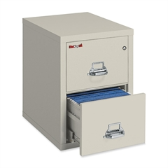 """Insulated Deep File Cabinet - 17.8"""" x 31.5"""" x 27.8"""" - 2 x Drawer(s) for File - Letter - Fire Resistant - Parchment - Powder Coated - Steel"""