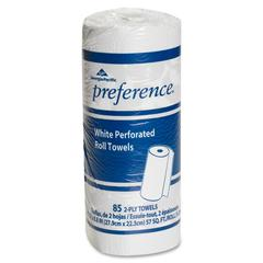 "Georgia-Pacific Preference Perforated Roll Towel - 2 Ply - 8.80"" x 11"" - 85 Sheets/Roll - White - 85 / Roll"
