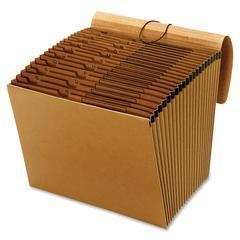 "Kraft Expanding Files With Flap - 10"" x 12"" Sheet Size - 21 Pocket(s) - Kraft - Kraft - Recycled - 1 Each"