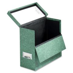 "Globe-Weis Storage Cases - External Dimensions: 12.1"" Width x 4.8"" Depth x 10.1""Height - Media Size Supported: Letter - Hinged Closure - Fiberboard - Green - For File - 1 Each"