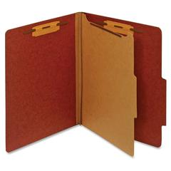 "Pendaflex Bonded Fastener Classification Folders - Letter - 8 1/2"" x 11"" Sheet Size - 1"" Fastener Capacity for Folder - 1 Divider(s) - 25 pt. Folder Thickness - Pressboard - Red - Recycled - 1 Each"