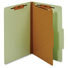 "Pendaflex Legal Classification Folders - Legal - 8 1/2"" x 14"" Sheet Size - 1"" Fastener Capacity for Folder - 1 Divider(s) - 25 pt. Folder Thickness - Pressboard - Green - Recycled - 1 Each"