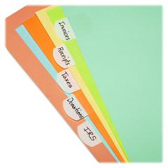 "LEE Removable Hefty Index Tab - Write-on Tab(s) - 1"" Tab Height x 1.50"" Tab Width - Removable - White Plastic Tab(s) - 50 / Pack"