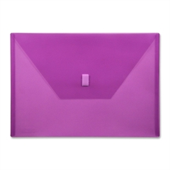 "Design-R-Line Poly Envelope - A4 - 8 17/64"" x 11 11/16"" Sheet Size - Poly - Purple - Recycled - 1 Each"