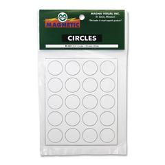 "Magna Visual Magnetic Circles - Circle - 0.8"" Diameter - Magnet - White"