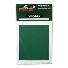 "Magna Visual Magnetic Circles - Circle - 0.8"" Diameter - Magnet - Green"