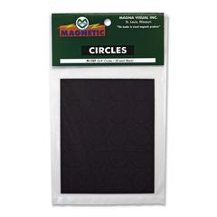 "Round Magnetic Indicators - Circle - 0.8"" Diameter - Magnet - Black"