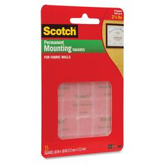 """Scotch Fabric Wall Mounting Grips - 0.69"""" Width x 0.69"""" Length - Polyester - Adhesive Backing - Removable - 35 / Pack - Cinder"""