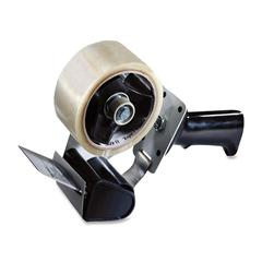 Pistol Grip Box Sealing Tape Dispenser - Holds Total 1 Tape(s) - Refillable - Adjustable Tension Mechanism, Adjustable Braking Mechanism - Gray
