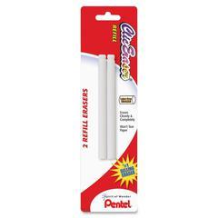 Pentel Clic Eraser Refills - Lead Pencil Eraser - Non-abrasive - 2/Pack - White