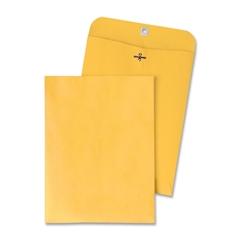 "Quality Park Clasp Envelope - Clasp - #10 - 3.38"" Width x 6"" Length - 28 lb - Gummed - Kraft - 100 / Box - Kraft"