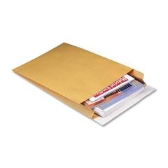 "Quality Park Expansion Mailer - Expansion - 12"" Width x 15"" Length - 2"" Gusset - 40 lb - Peel & Seal - Kraft - 100 / Carton - Brown Kraft"