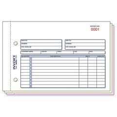 "Rediform Invoice Form - 50 Sheet(s) - 3 Part - Carbonless Copy - 5.50"" x 7.87"" Sheet Size - Assorted Sheet(s) - Blue, Red Print Color - 1 / Each"