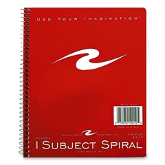 "Roaring Spring 1-Subject Wirebound Notebook - 50 Sheets - Printed - Wire Bound 7"" x 8.50"" - Assorted Cover - 50 / Each"