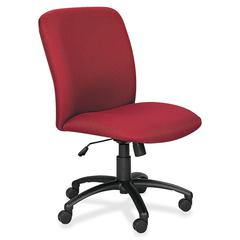 "Big & Tall Executive High-Back Chair - Foam Burgundy, Polyester Seat - Black Frame - 5-star Base - 22.25"" Seat Width x 20.75"" Seat Depth"