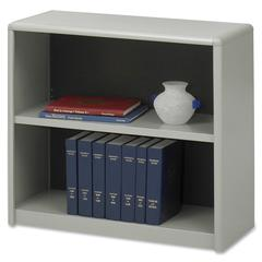 "ValueMate Bookcase - 31.8"" x 13.5"" x 28"" - 2 x Shelf(ves) - Gray - Steel, Fiberboard, Plastic - Assembly Required"