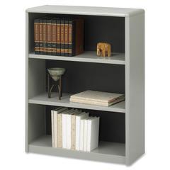 "Safco ValueMate Bookcase - 31.8"" x 13.5"" x 41"" - 3 x Shelf(ves) - Gray - Steel, Fiberboard, Plastic - Assembly Required"