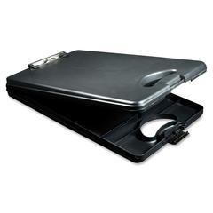 "Saunders DeskMate II Portable Desktop Storage Clipboard - 0.50"" Clip Capacity - Storage for Stationary - Bottom Opening - 10"" x 16"" - Low-profile - Polypropylene - Black"