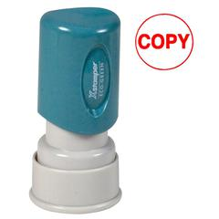 "Xstamper Pre-Inked Stamp - Message Stamp - ""COPY"" - 0.63"" Impression Diameter - Red - Plastic Cap - Recycled - 1 Each"
