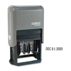 ClassiX Self-Inked 4-Year Dater - Date Stamp - Black - Plastic - 1 Each
