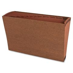 "Sparco No Flap Heavy-Duty Accordion Files - Legal - 8 1/2"" x 14"" Sheet Size - 12 Pocket(s) - Top Tab Location - Brown - Recycled - 1 Each"