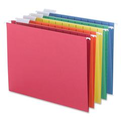 """Sparco Colored Hanging Folder - Letter - 8 1/2"""" x 11"""" Sheet Size - 1/5 Tab Cut - Assorted - Recycled - 25 / Box"""