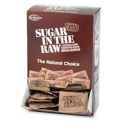 Sugar Foods Sugar In The Raw Sweetener - 0.16 oz - Molasses Flavor - Natural Sweetener - 200/Box