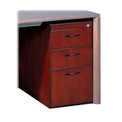 "Mayline Corsica Box/Box/File Pedestal for Credenza - 15"" x 18"" x 27"" - 3 x Box Drawer(s), File Drawer(s) - Beveled Edge - Material: Wood - Finish: Mahogany, Walnut Veneer"
