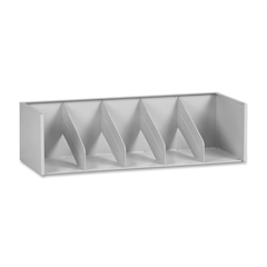"Tennsco A36 Series Modular Filing System - 36"" x 16.2"" x 10"" - Letter - Stackable - Light Gray - Steel - Recycled - Assembly Required"