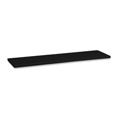 Tennsco Executive Bookcases Extra Shelves - Black - Steel - Recycled - Assembly Required