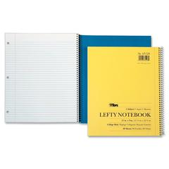 "TOPS Lefty Kraft Legal Ruled Notebook - 80 Sheets - Printed - Spiral - 9"" x 11"" - Assorted Paper - 1Each"