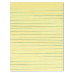 "TOPS Gum-top Narrow-ruled Writing Pad - 50 Sheets - Printed - Gummed - Letter 8.50"" x 11"" - Canary Paper - 12 / Pack"