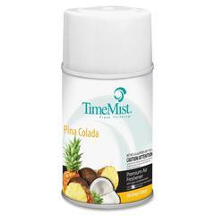 TimeMist Metered Air Freshener Refill - Aerosol - 6000 ft³ - 6.60 oz - Pina Colada - 30 Day - 1 Each